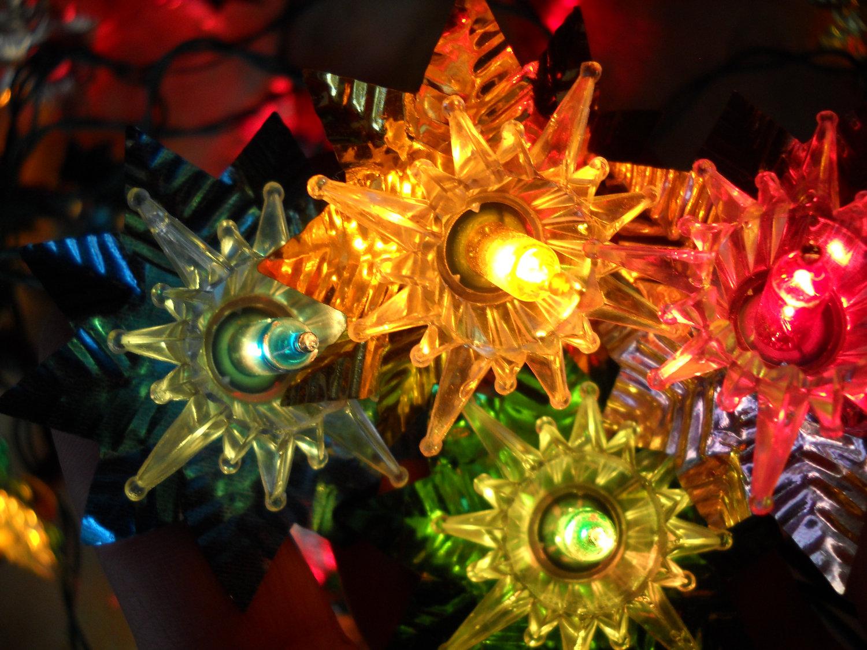 Colorful Christmas Stars Wallpapers High Quality