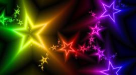 Colorful Christmas Stars Image