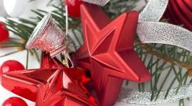 Colorful Christmas Stars Photo