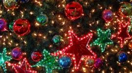 Colorful Christmas Stars Wallpaper