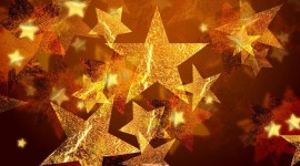 Colorful Christmas Stars Wallpaper Free