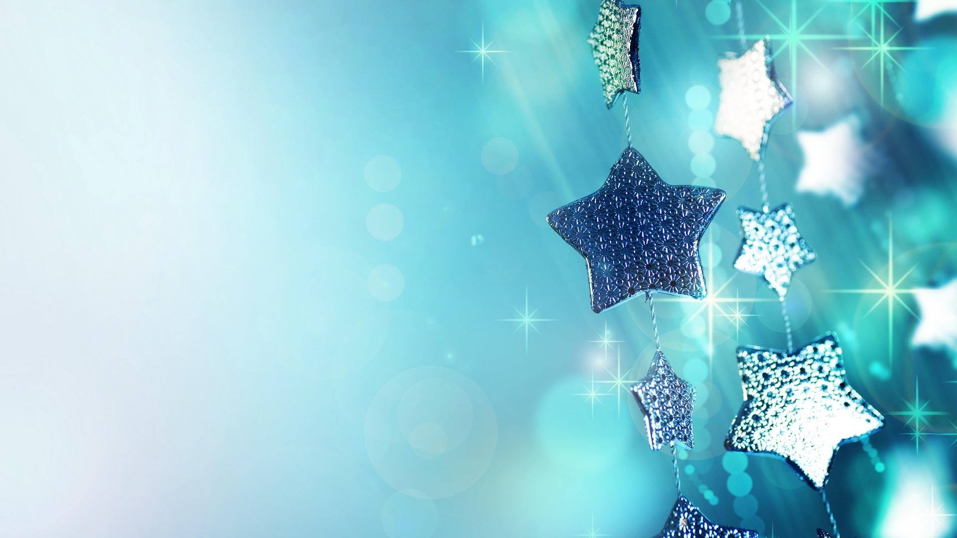 Colorful Christmas Stars Wallpapers High Quality Download Free