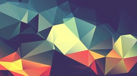 Colorful Triangles Desktop Wallpaper