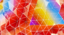 Colorful Triangles Wallpaper For Desktop