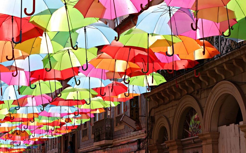 Colorful Umbrellas wallpapers HD