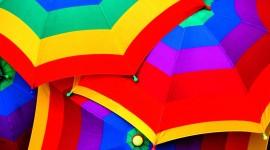 Colorful Umbrellas Desktop Wallpaper