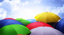 Colorful Umbrellas Desktop Wallpaper HD