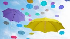 Colorful Umbrellas Wallpaper 1080p