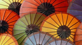 Colorful Umbrellas Wallpaper Background