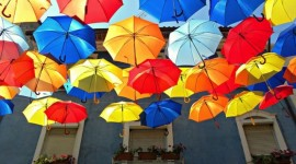 Colorful Umbrellas Wallpaper HQ