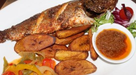 Fried Grilled Fish Wallpaper Free