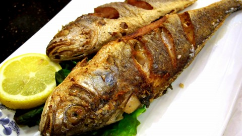 Fried Grilled Fish wallpapers high quality