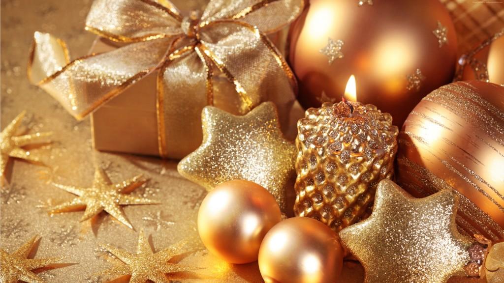 Gold Christmas Balls wallpapers HD