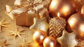 Gold Christmas Balls Best Wallpaper