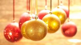 Gold Christmas Balls Photo Download