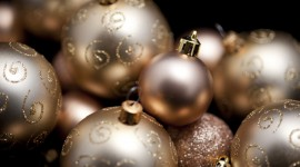 Gold Christmas Balls Wallpaper Download