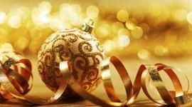 Gold Christmas Balls Wallpaper Free