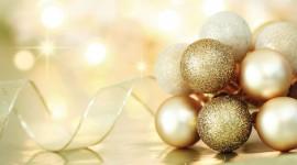 Gold Christmas Balls Wallpaper HQ#1