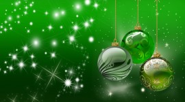 Green Christmas Balls Image