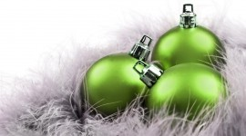Green Christmas Balls Photo