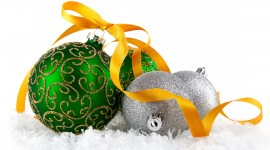 Green Christmas Balls Photo#1