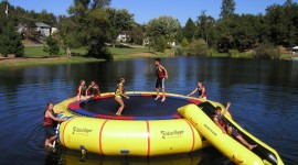 Inflatable Trampoline Wallpaper For PC