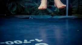 Jumping On The Trampoline Wallpaper 1080p
