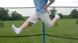 Jumping On The Trampoline Wallpaper For IPhone