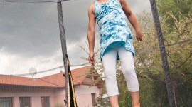 Jumping On The Trampoline Wallpaper For IPhone Free