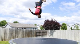 Jumping On The Trampoline Wallpaper Gallery