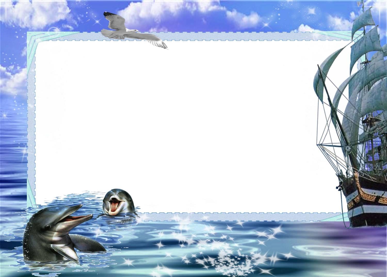 Рамки для открыток морские 30