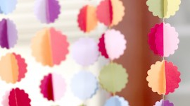 Paper Garland Wallpaper For IPhone