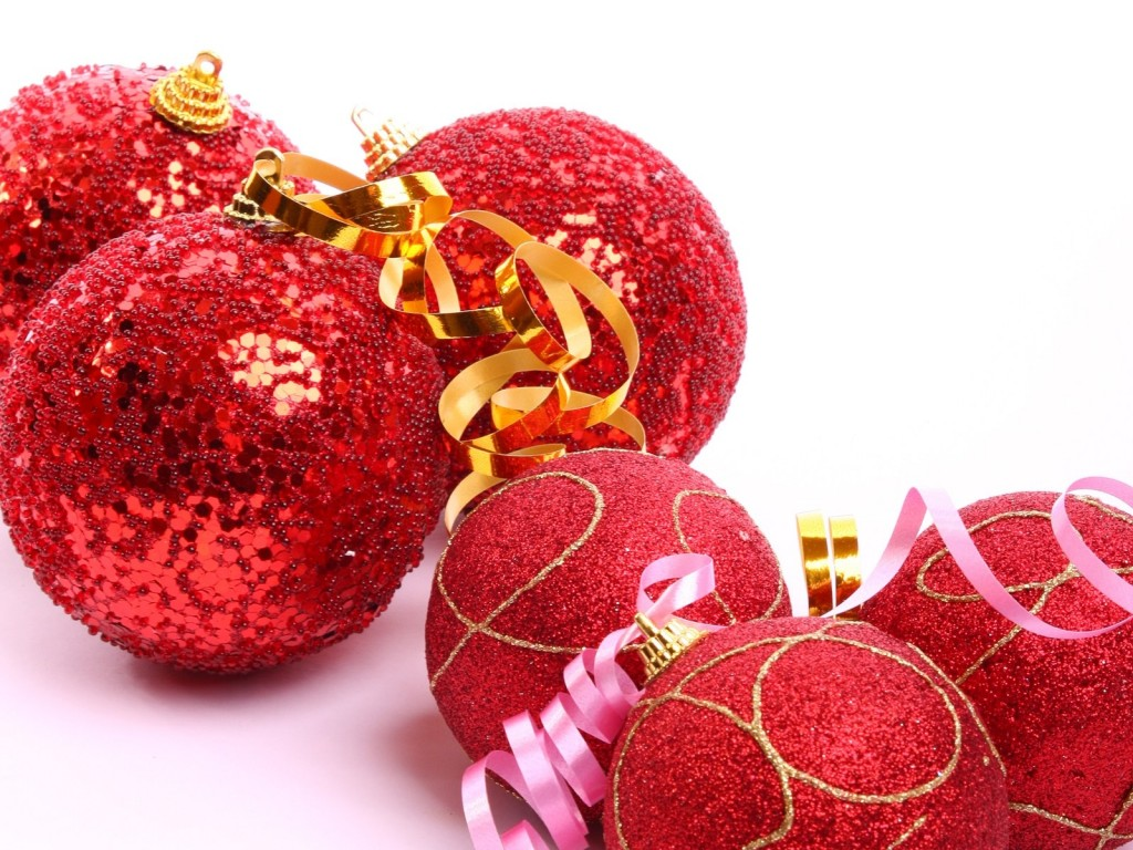 Red Christmas Balls wallpapers HD