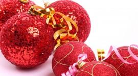 Red Christmas Balls Best Wallpaper