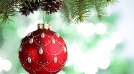 Red Christmas Balls Desktop Wallpaper For PC