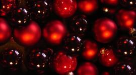 Red Christmas Balls Desktop Wallpaper HD