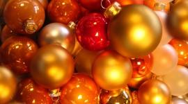 Red Christmas Balls Desktop Wallpaper HD#1