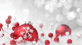 Red Christmas Balls Desktop Wallpaper#1