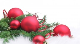 Red Christmas Balls Photo Download#1