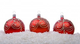 Red Christmas Balls Photo Download#2