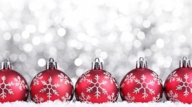 Red Christmas Balls Photo Free#1