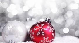 Red Christmas Balls Photo Free#2