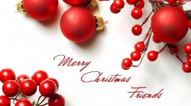 Red Christmas Balls Wallpaper