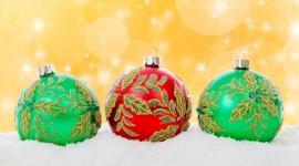 Red Christmas Balls Wallpaper For Desktop