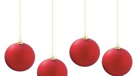 Red Christmas Balls Wallpaper For IPhone
