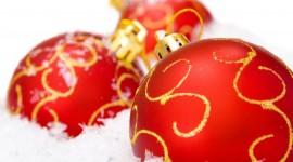 Red Christmas Balls Wallpaper Gallery