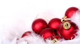 Red Christmas Balls Wallpaper HQ#1