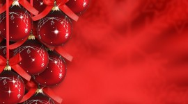 Red Christmas Balls Wallpaper#1
