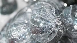 Silver Christmas Balls Best Wallpaper