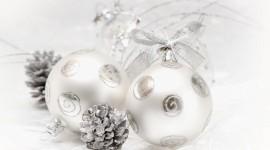 Silver Christmas Balls Desktop Wallpaper HD